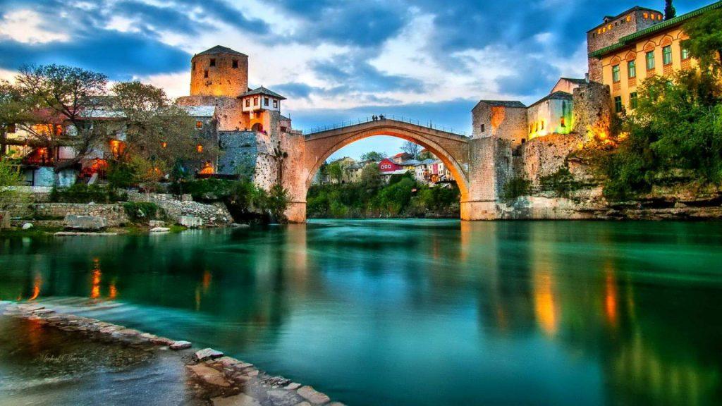 Mostar City, old bridge, Bosnia and Herzegovina